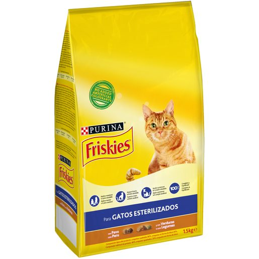 FRISKIES Ração para Gato Adulto Esterilizado com Peru Purina 1,5 kg
