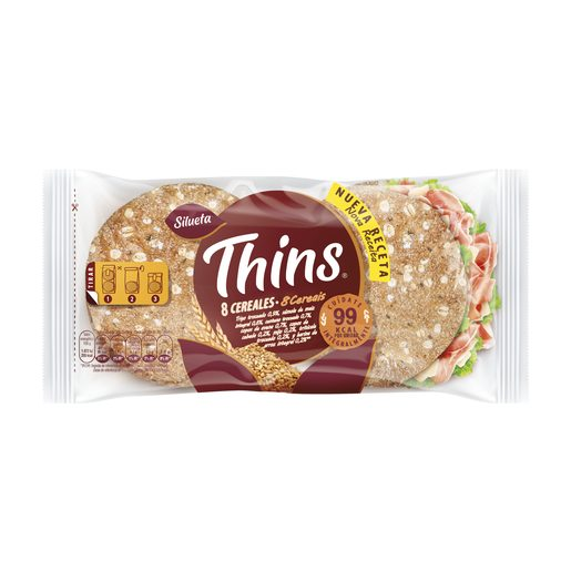 THINS Pão Sandwich Integral 8 Cereais 310 g