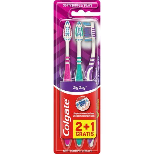 COLGATE Escova de Dentes Zig-Zag Suave 2 un