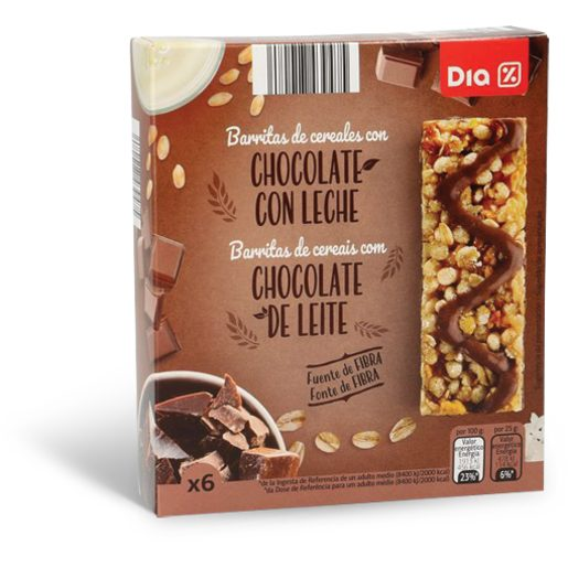 DIA Barritas de Cereais de Chocolate 150 g