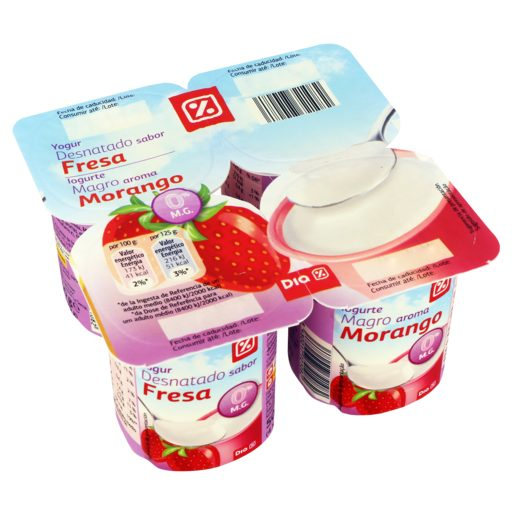 DIA Iogurte Magro Aroma Morango 4x125 g