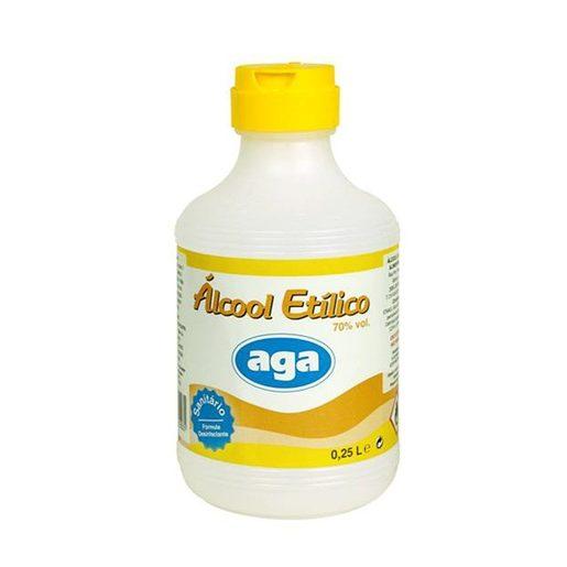 AGA Álcool Sanitário 70% 250 ml