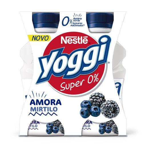 YOGGI Iogurte Líquido Super 0% Amora Mirtilo 4x160 g