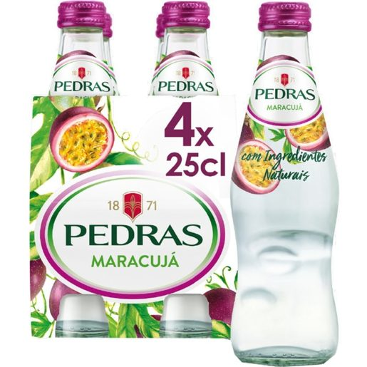 PEDRAS Água com Gás Sabor Maracujá 4x250 ml