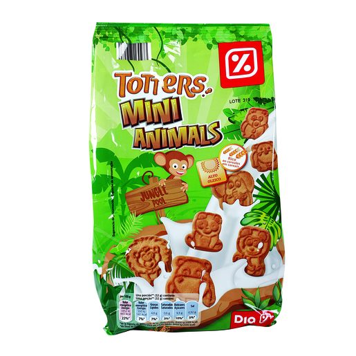 DIA Bolachas Totters Mini Animals 350 g
