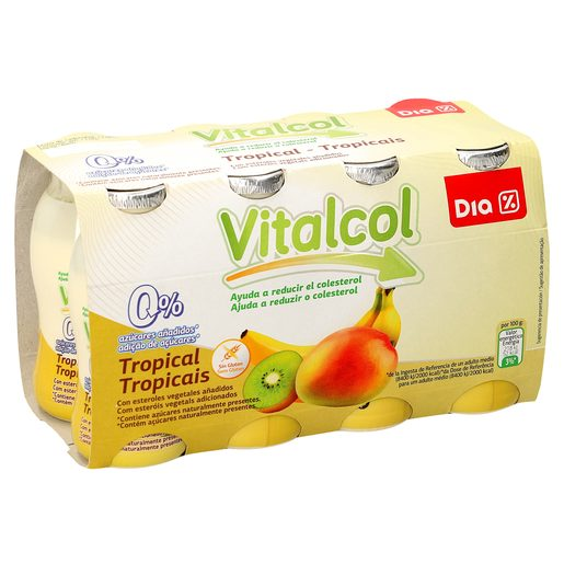 DIA VITAL Iogurte Redutor Colesterol Tropical 8x100 g