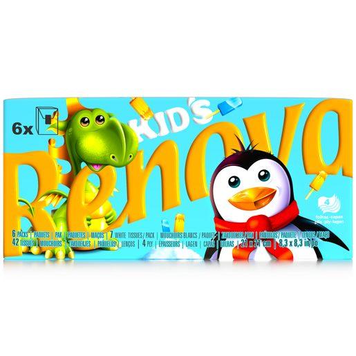 RENOVA Lenços de Bolso Kids Compacto 4 Folhas 6 un