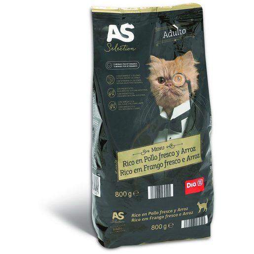 AS Alimentação Seca de Frango Fresco Para Gato Adulto 800 g