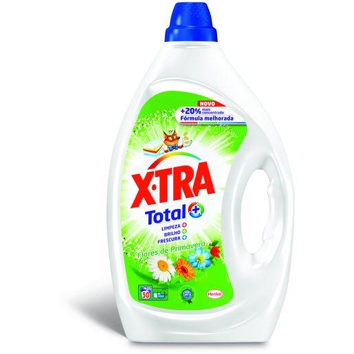 X-TRA Detergente Máquina da Roupa Líquido Flores de Primavera 50 Lv