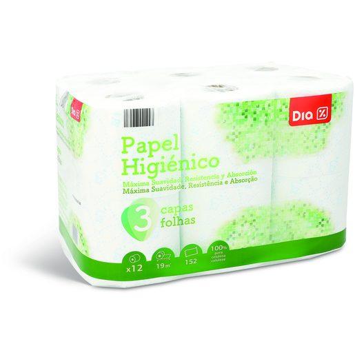 DIA Papel Higiénico Premium 3 Folhas 12 Un