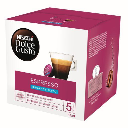 NESCAFÉ DOLCE GUSTO Espresso Decaffeinato (Intensidade 5) 16 Un