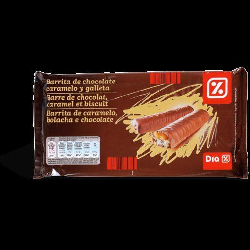 DIA Barrita de Caramelo, Bolacha E Chocolate 5x58 g