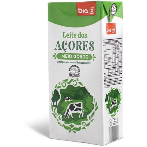 DIA Leite Meio Gordo Açores 1 L