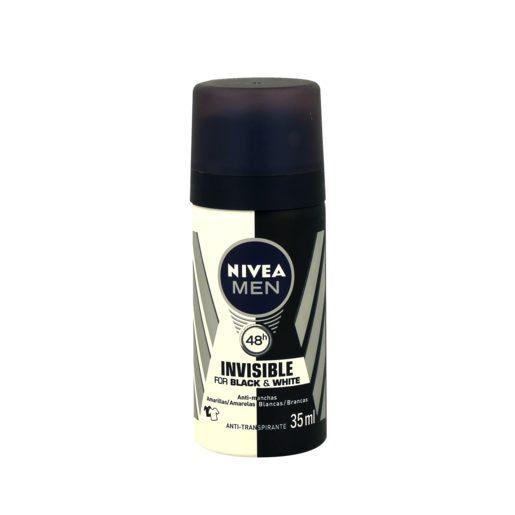 NIVEA MEN Mini Desodorizante Invisible Black & White 35 ml