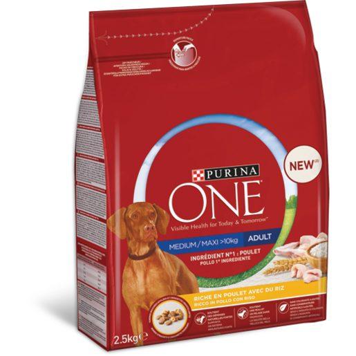 PURINA ONE Ração para Cão Frango Arroz 2,5 kg
