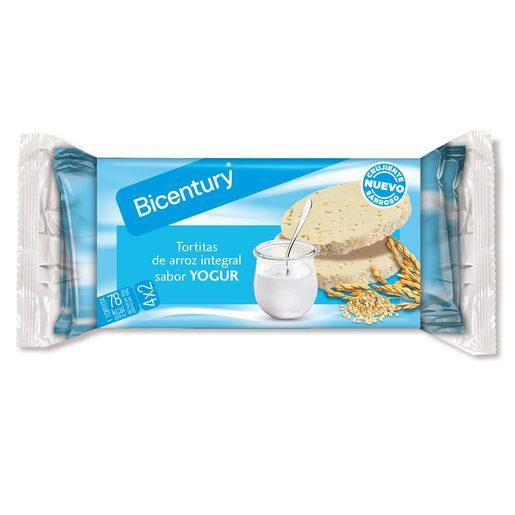 BICENTURY Tortitas de Arroz  Yogurt Chocolate Branco 130 g