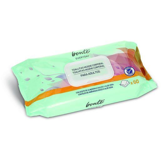 BONTÉ Toalhitas Higiene Corporal Adulto 60 Un