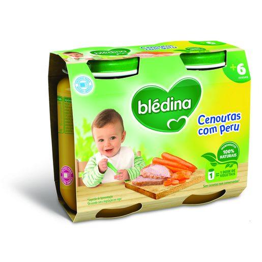 BLÉDINA Boião Cenouras com Peru 2x200 g