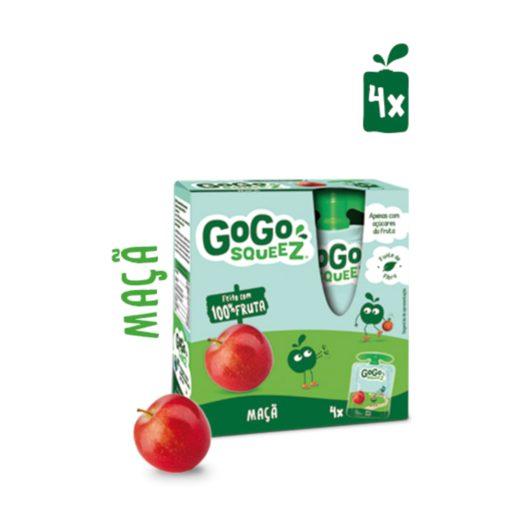 GOGO SQUEEZ Fruta Saqueta Maçã 4X90 g