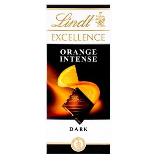 LINDT Tablete de Chocolate Laranja Excellence 100 g