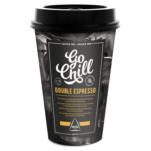 GO CHILL Bebida de Café Double Espresso 230 ml