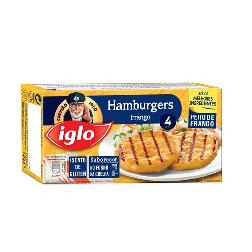 IGLO Hambúrguer Frango Sem Glúten 4 Un