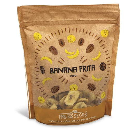 FRUTOS SECOS DO DIA Banana Frita Embalada 200 g