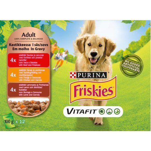 FRISKIES Alimento Húmido Para Cão Saquetas 12x100 g