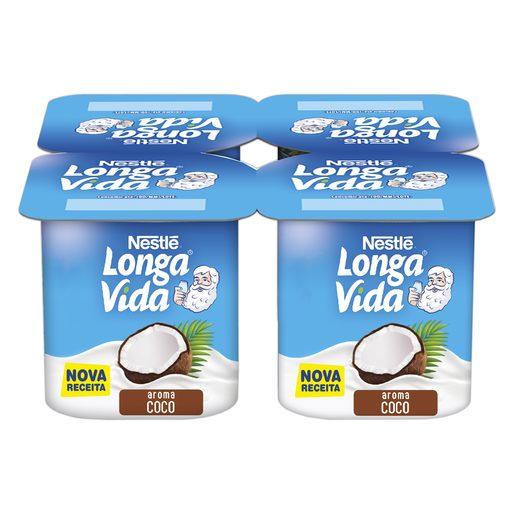 LONGA VIDA Iogurte Sólido Aroma Coco 4x120 g
