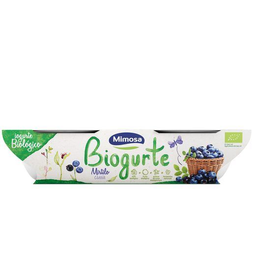 MIMOSA Biogurte Sólido Mirtilo e Cassis 2x115 g