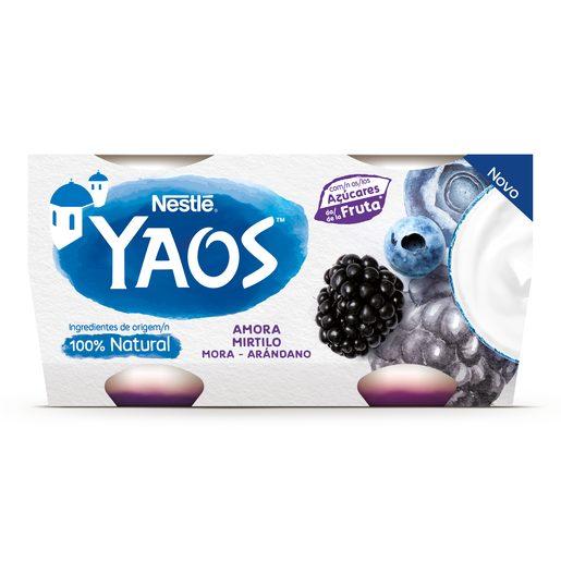 YAOS Iogurte Grego Amora E Mirtilo 4x110 g