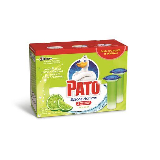 WC PATO Discos Sanitários Ativos Recarga Fresh Limão 2 Un