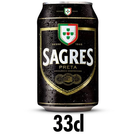 SAGRES Cerveja com Álcool Preta Lata 330 ml