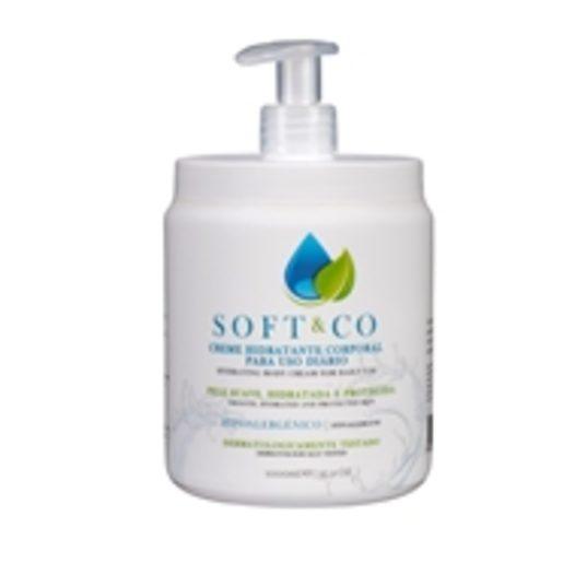 SOFT & CO Creme Hidratante Corporal Hipo Alergénico Uso Diário 1 L