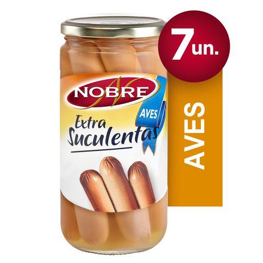 NOBRE Extra Suculentas Salsichas de Aves 7 unidades Frasco 350 g