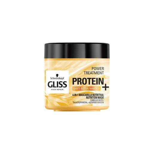 GLISS Máscara Capilar Nutritiva 4 em 1 Manteiga de Karité para Cabelo Seco 400 ml